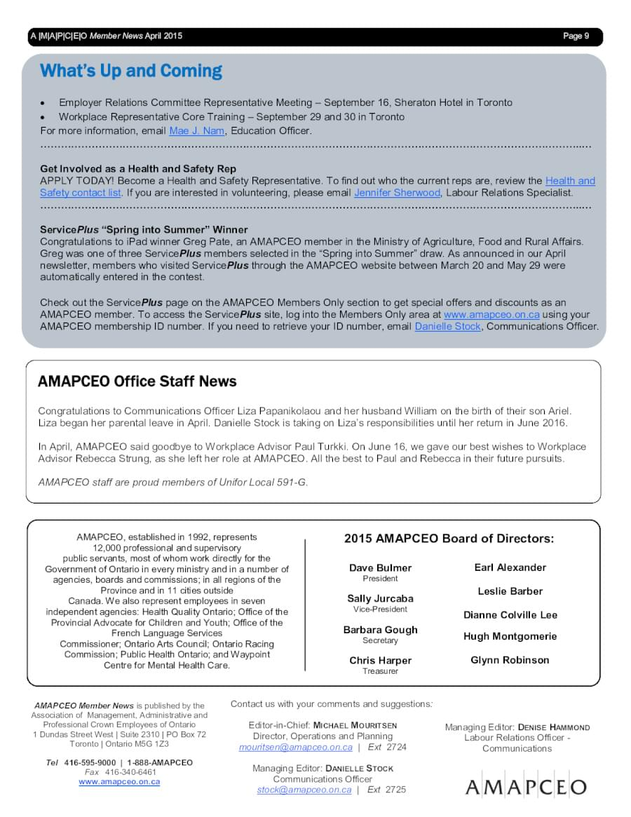 AMAPCEO News, Events & Campaigns | AMAPCEO