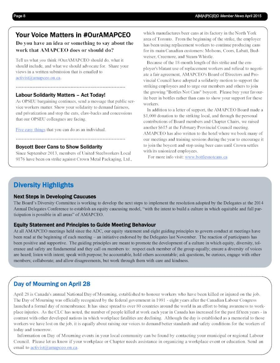 Newsletters | AMAPCEO