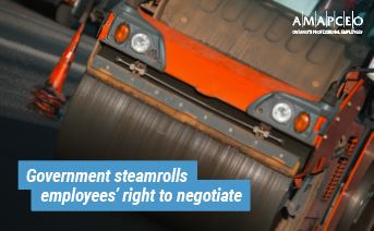 Government steamrolls employees' right to negotiate