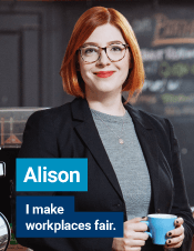 Alison | I make workplace fair.