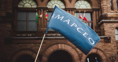 AMAPCEO flag waving in front of Queen's Park