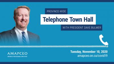 Province-Wide Telephone Town Hall with President Dave Bulmer